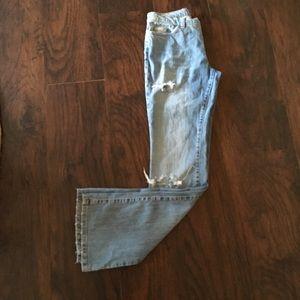 Dolce & gabbana flair light wash distressed jean